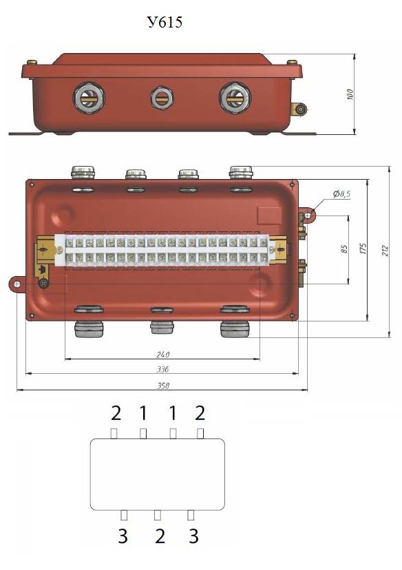 Коробка клеммная У615 схема