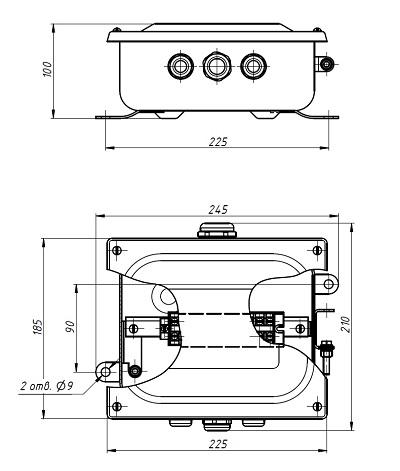 Коробка клеммная У614 схема